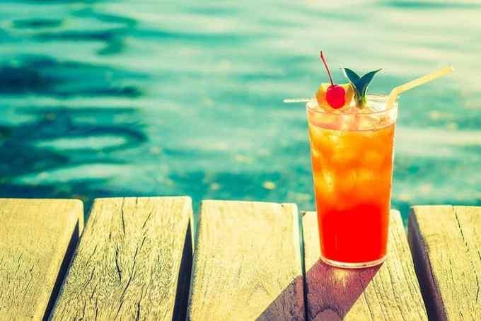 Κοκτέιλ Καλοκαίρι Φόντο Θάλασσα