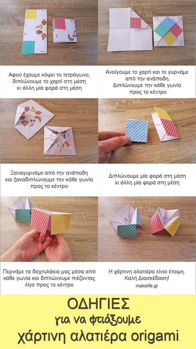 alatiera origami odigies - Χάρτινη Αλατιέρα. Ένα παιχνίδι Origami από τα παλιά