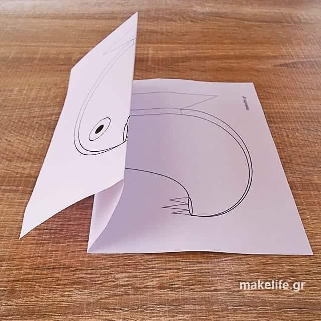 pos tha diplosoume ta psarakia - Κατασκευή με εκτυπώσιμο. Χαριτωμένα ή άγρια ψαράκια;
