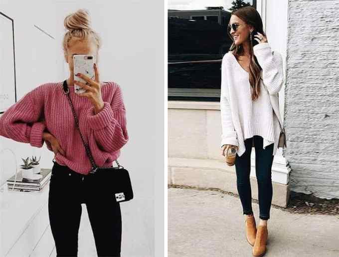 how to wear an oversized sweater with jeans - Πως να φορέσεις το oversized πουλόβερ αυτό το χειμώνα