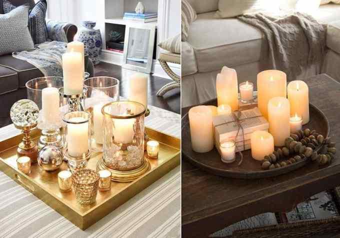coffee table decoration ideas 2 - Πως να διακοσμήσεις το τραπεζάκι σαλονιού με 4 απλές κινήσεις