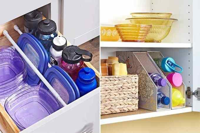 organize plates and bowls - Πως να οργανώσεις την κουζίνα σου για να είναι πιο λειτουργική