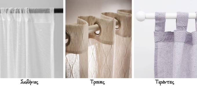 curtain styles - Μέτρηση κουρτίνας: πως θα υπολογίσεις σωστά τις διαστάσεις