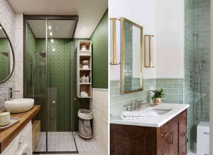 green bathroom - Τα κυρίαρχα χρώματα για το μπάνιο. 5 ιδέες που θα λατρέψεις