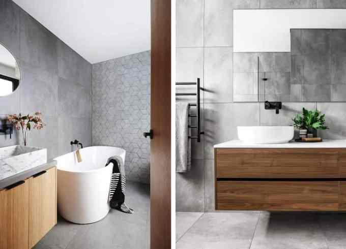 grey bathroom 2 - Τα κυρίαρχα χρώματα για το μπάνιο. 5 ιδέες που θα λατρέψεις