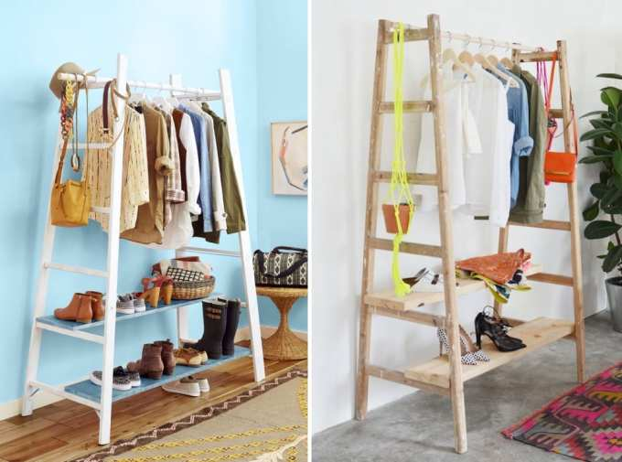 ladder decoration 5 - Πως μπορείς να χρησιμοποιήσεις μια σκάλα στη διακόσμηση σπιτιού