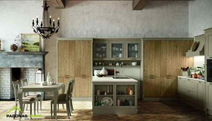 klasiki kouzina romantica 2 - 6 Βασικά στοιχεία που χαρακτηρίζουν τις κλασικές κουζίνες