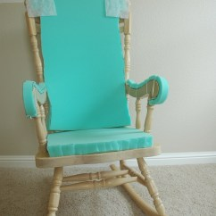 Slipcover For Glider Rocking Chair High Dogs With Megaesophagus Adding Comfort To A Wooden Part One Makely