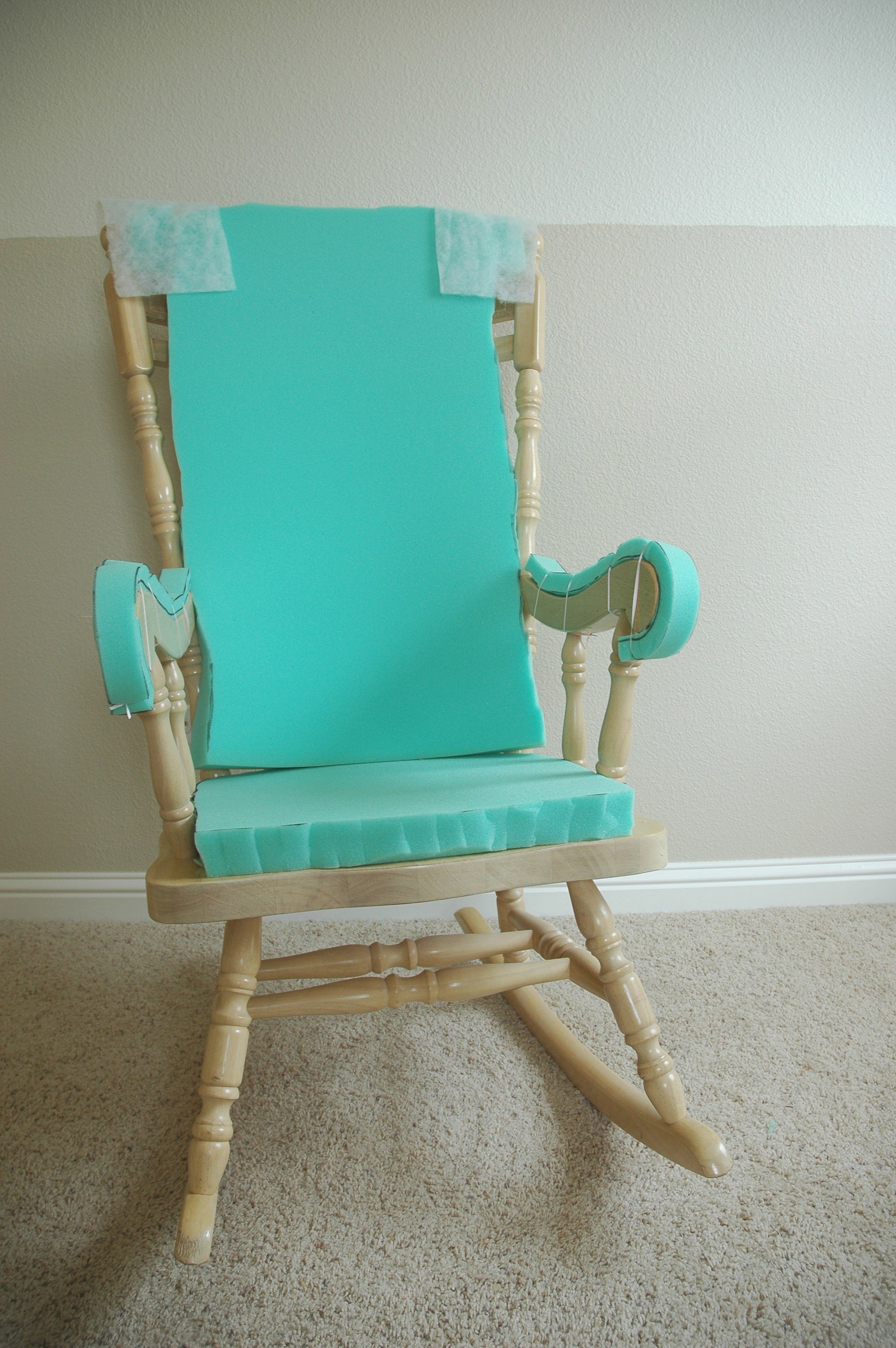 Rocking Chair Covers Adding Comfort To A Wooden Rocking Chair Part One Makely