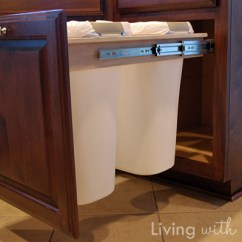 Kitchen Trash Can Pull Out Nook Seating How To Build A And Recycling Bin Makely Take That Expensive Roller Outer People Jealous