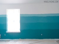 How to Paint a Modern Ombre Wall