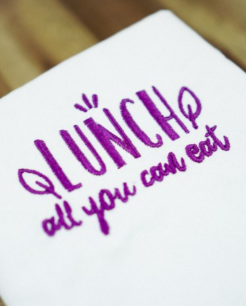 Stickdatei Lunch all you can eat (Anwendungsbeispiel)