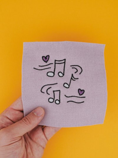 Stickdatei Musik / Noten