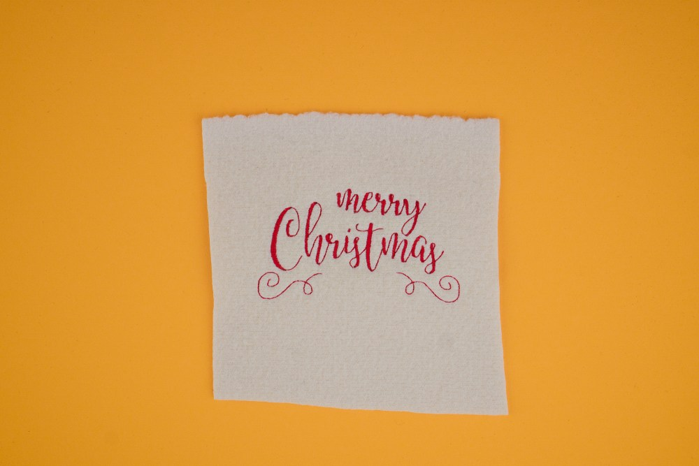 Stickdatei Merry Christmas Schriftzug (Weihnachten)