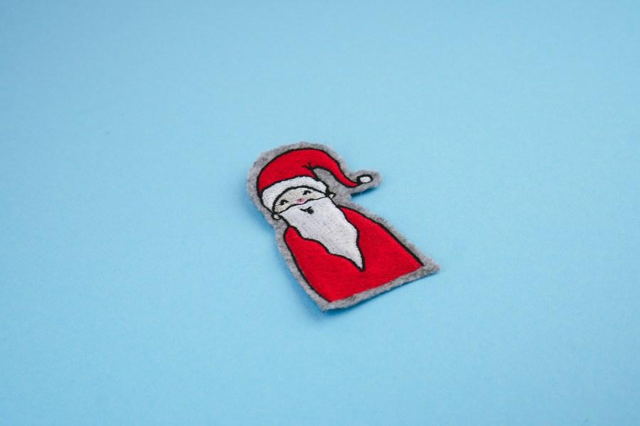 Stickdatei Weihnachtsmann (Anwendungsbeispiel)
