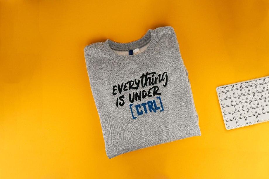 Stickdatei Computer Nerd »Everything is under CTRL«