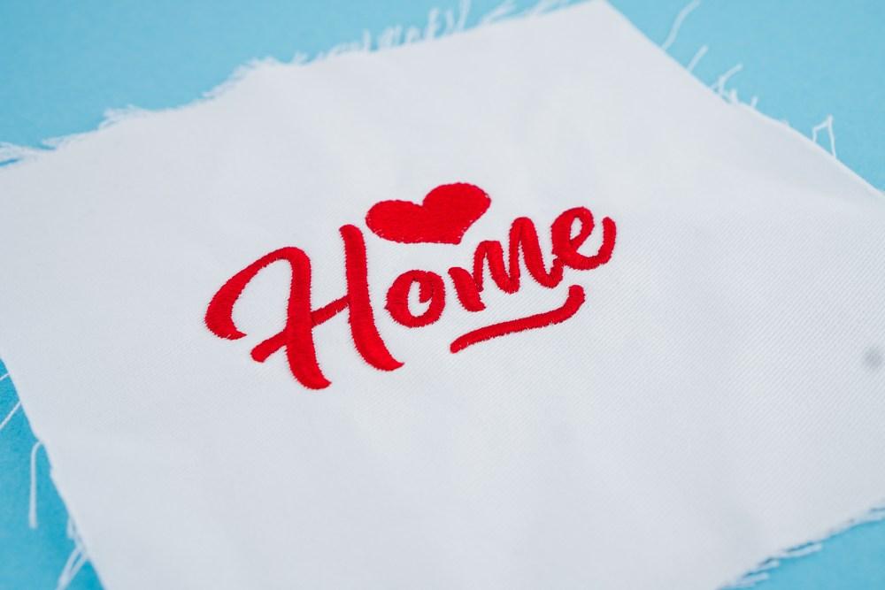 Stickdatei Home (Anwendungsbeispiel)
