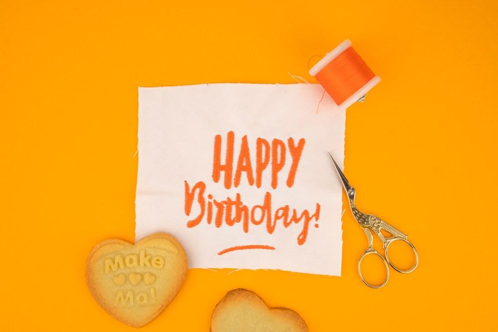 Stickdatei »Happy Birthday« für Brother, Bernina, Pfaff, W6…