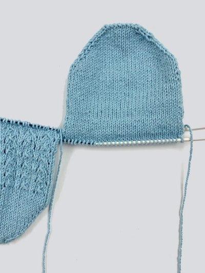 Socken gleichzeitig stricken