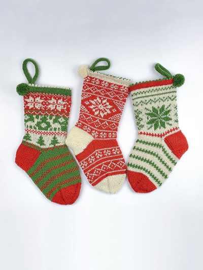 stricksocken weihnachten