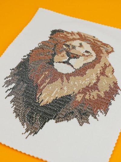 Stickdatei Löwe Anwendungsbeispiel