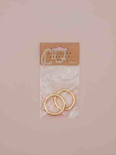 Schlüsselanhänger Ringe gold