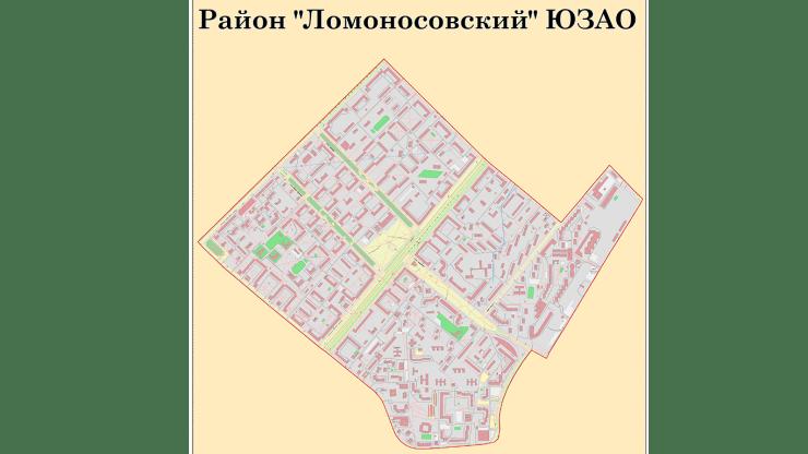 Карта района Ломоносовский