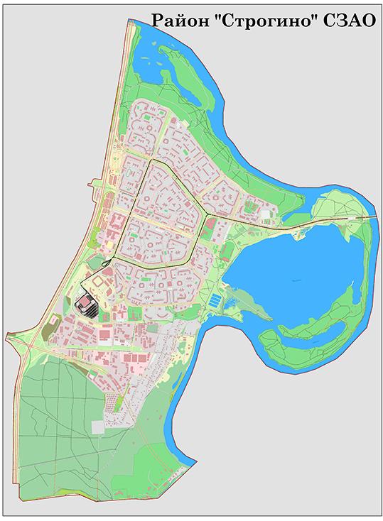 Карта района Строгино