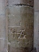 One of the masons or graffiti from the middle ages?
