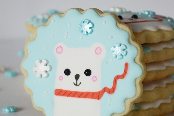 Silly Chilly Polar Bear Cookies for Any Cookie Cutter