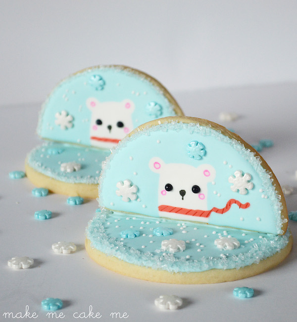 Winter Polar Bear Snowflake Cookies 4