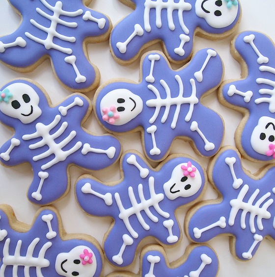 Simple Skeleton Gals from a Gingerbread Cutter