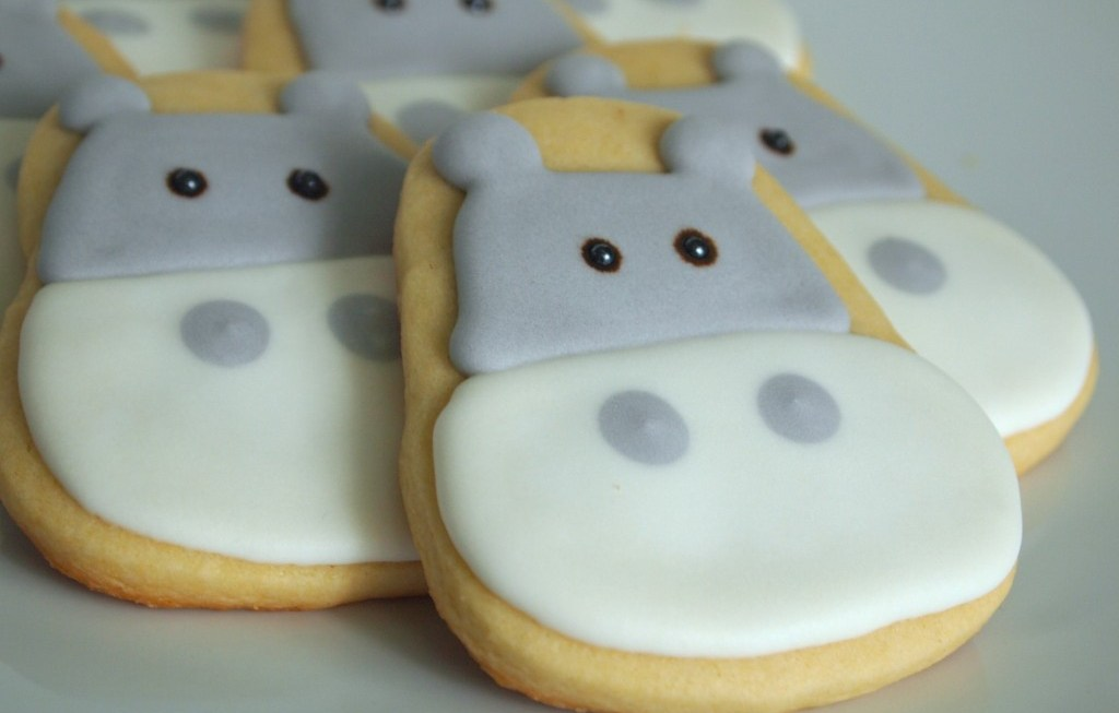 Hippo Cookies for Ozzy's First Birthday