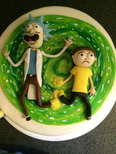 Rick and Morty Cake Tutorial by The Lovely Baker