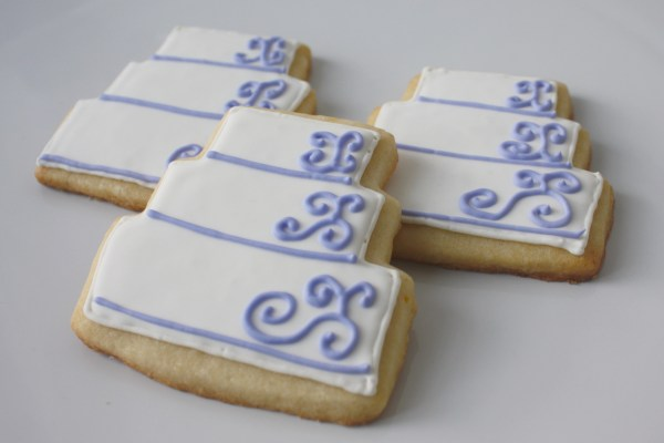 Wedding Cake Cookies for Justine