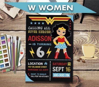 wonder woman invitation wonder woman invite wonder woman birthday party wonder woman printable diy