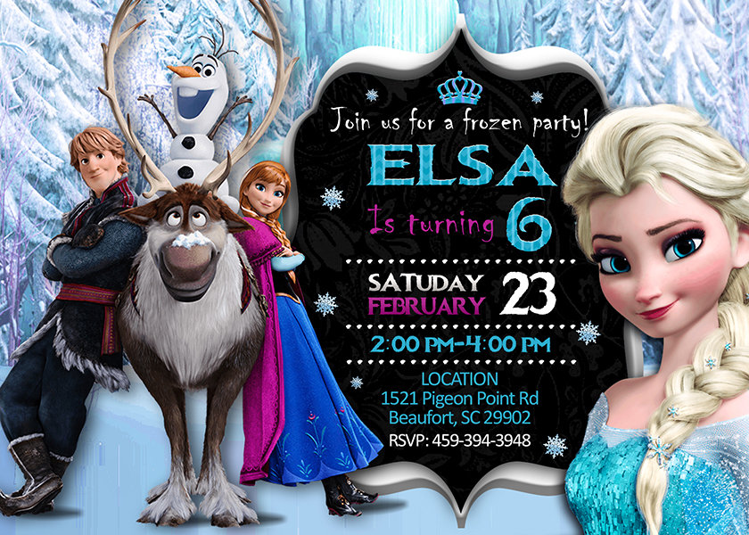 frozen birthday invitation frozen invite frozen birthday party frozen printable frozen card diy