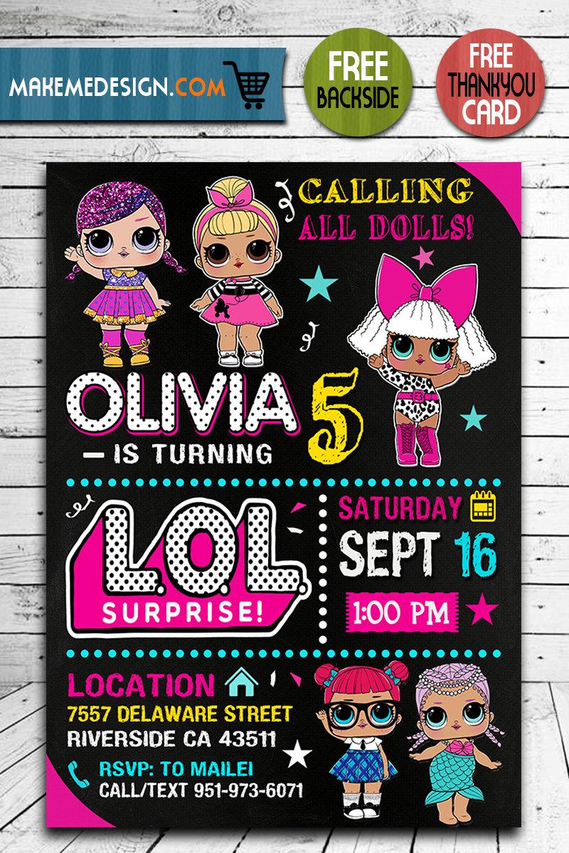 lol surprise dolls invitation lol surprise dolls invite lol surprise dolls birthday party lol surprise dolls printable lol surprise dolls card