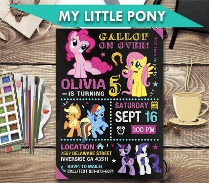 my little pony invitation my little pony invite my little pony birthday party my little pony printable my little pony card diy
