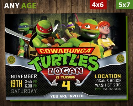 ninja turtles invitation tmnt ninja turtles invite ninja turtles birthday party ninja turtles printable diy