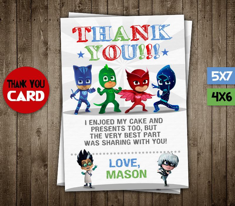 pj masks birthday invitations boys pj masks invite pj masks birthday party pj masks printable pj masks card diy