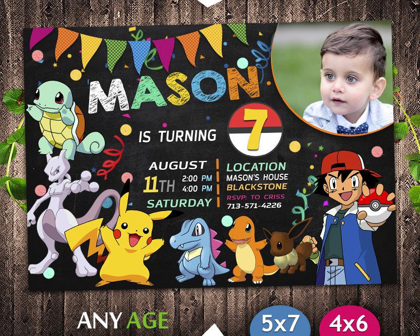 pokemon invitation with picture pokemon invite pikachu invitation pokemon birthday party pokemon printable