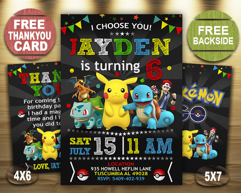 pokemon birthday invitations boys pokemon invite pikachu invitation pokemon birthday party pokemon printable