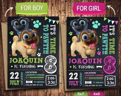 puppy dog pals invitation puppy dog pals invite puppy dog pals birthday party puppy dog pals printable puppy dog pals card diy