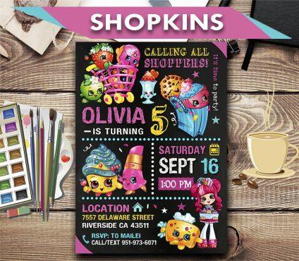 shopkins birthday invites shopkins