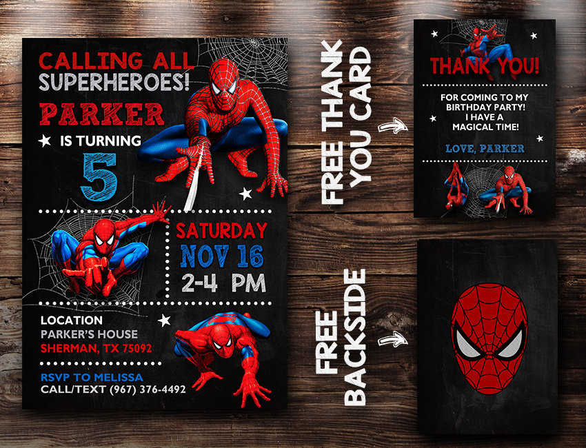 spiderman party invites spiderman invite spiderman birthday party spiderman printable spiderman card diy