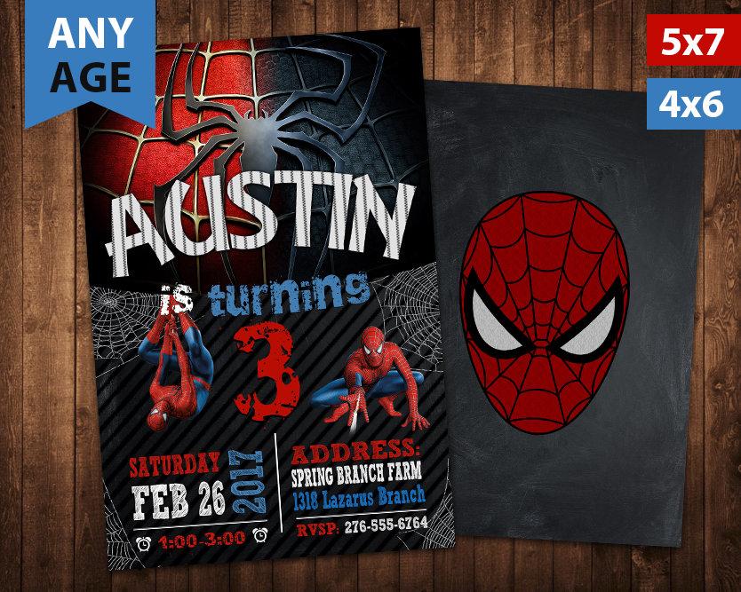 spiderman birthday invitation spiderman invite spiderman birthday party spiderman printable spiderman card diy