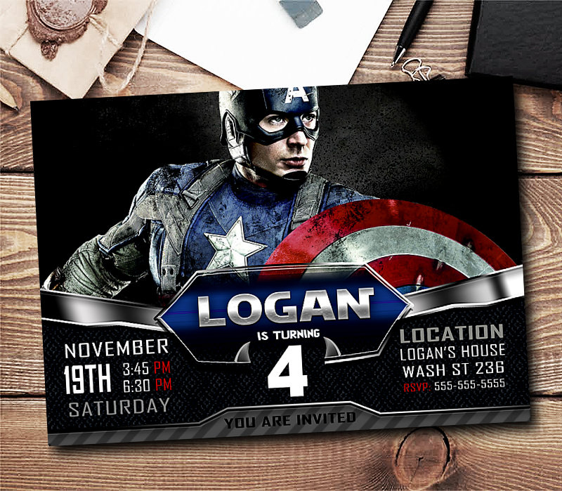 captain america invitations boy captain america birthday invitations boys boy captain america invitation boy invitation