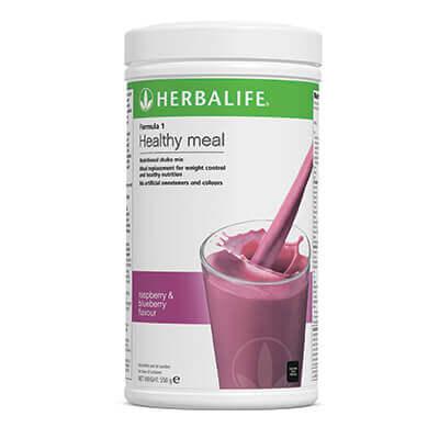 Herbalife Raspberry & Blueberry Shake