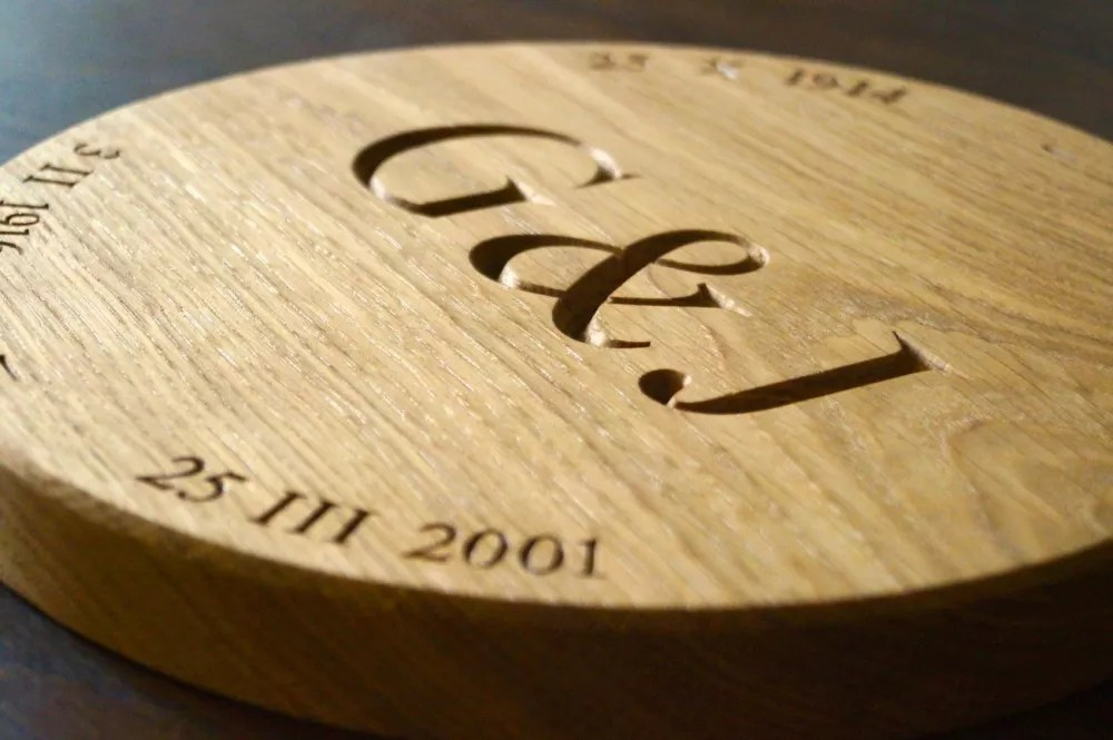 Personalised Round Wooden Plaque  MakeMeSomethingSpecial